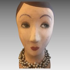 Art Deco French hat display head