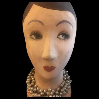 Art Deco French hat display head