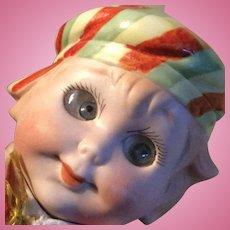 Rare German bisque googlie doll