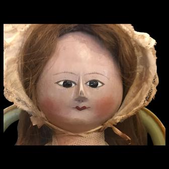 Georgian English wood doll