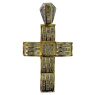 Impressive Large Diamond 14 karat Gold Cross