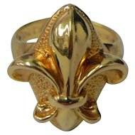 Beautiful Fleur-de-lis 14K Gold Ring