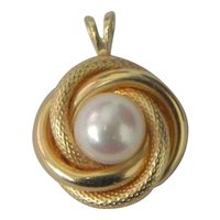 14K Gold and Pearl Pendant