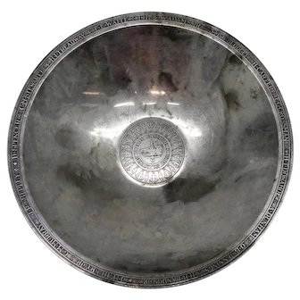 Large Sterling Silver Tiffany Bowl from Yale University Wolf Society 1925