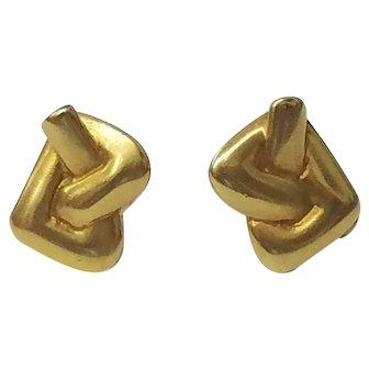 Vintage Tiffany 18K Gold Earrings
