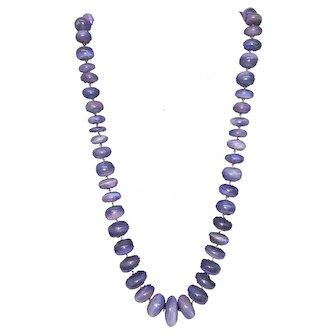 Massive 1100+ carat Semi Black Opal Lightning Ridge Single Strand Bead Rondelle Necklace