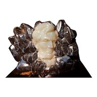 Rare 4700 carat Boulder Opal carved Lincoln Bust