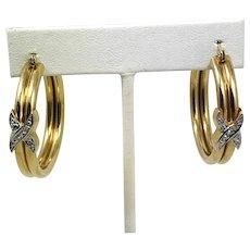 Aituzzi Jewelry 14k Gold Hoop Earrings with Diamonds