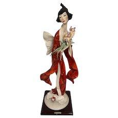Giuseppe Armani Oriental Lady with Iris 610/C Limited Edition