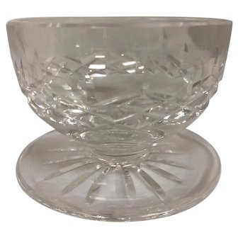Vintage Chrystal Candy Dish with Clear Purple Hue - Mint