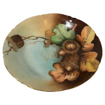 Limoge Porcelain hand painted salad dish from Haviland France