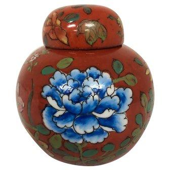 Hand painted ginger jar by Oriental Objects d'art Macau.  porcelain
