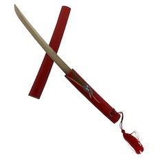 Japanese Katana  Samurai Styled Hand Painted Sword Letter Opener