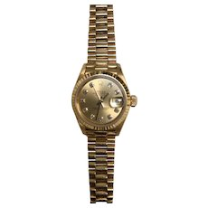Rolex Watch Datejust Oyster, 31 mm, yellow gold
