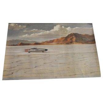 Triumph Corporation 1957 World Speed Record Poster - Rare