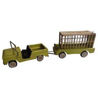 Nylint Safari Hunt Metal Toy Truck with Trailer