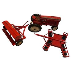 Tru-Scale Tractor Farm Set, Tractor, Seed Planter, Disc