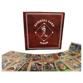 Base ball card album filled with Topps cards