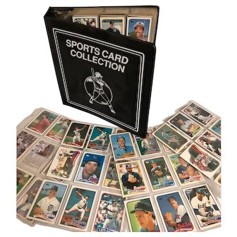 Base ball card album filled with Topps and Fleer cards