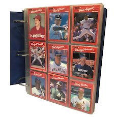 Baseball card album filled with Donruss Diamond Kings cards from 1980's