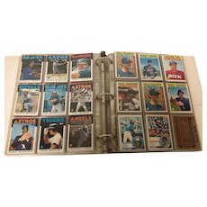 Base ball card album filled with Topps and Donruss cards 1986