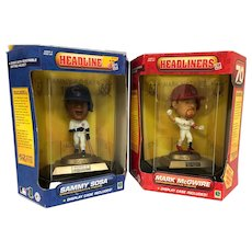 Mark McGuire & Sammy Sosa Headliners Action Figures - Relive 1988 Sports History