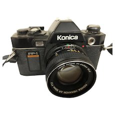 Konica FP-1 35 mm camera with automatic flash