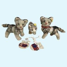 Three Little Kittens lost their mittens- Steiff Cat or kitty lot