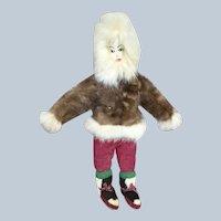 "12"" Vtg Alaskan Eskimo Doll w Fabulous boots"