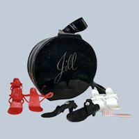 Jill Doll Round Hat Box filled with shoes