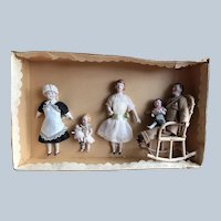 German Doll House Family in Orig BOX