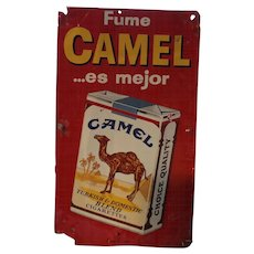 "CAMEL ""Fume Camel"" Advertising Metal Sign"