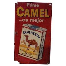 Vintage Fume Camel Advertising Metal Sign