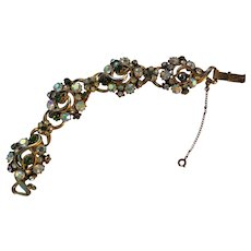 Lots of Bling with this FLORENZA Bracelet 1949 - early 1950's