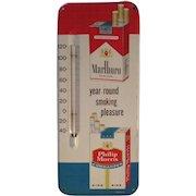 Vintage 1950's metal Marlboro / Philip Morris Thermometer Tobacco Advertisement Sign