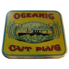 OCEANIC CUT PLUG Tobacco Tin, Detroit, Scotten, Dillion, CO
