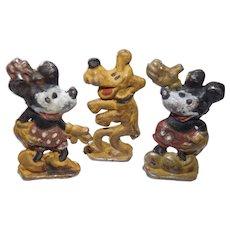 Mickey, Mini & PLuto 1930's Lead Die Cast