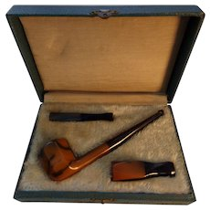 Vintage London Fashion Pipe Cigar & Cigarette Holder in Fitted Box