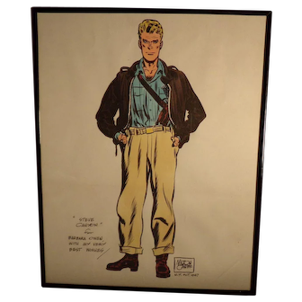 1947 Signed Milton Caniff Picture of Steve Canyon