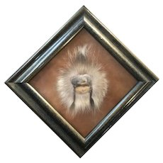 Alaskan Inuit Native Face of Leather and Elk Fur