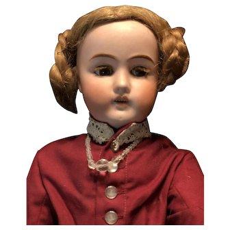 Lush Lash German Bisque Head Goebel Doll Marked B. 5