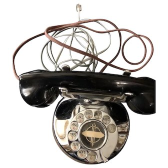 Art Deco Chrome Telephone