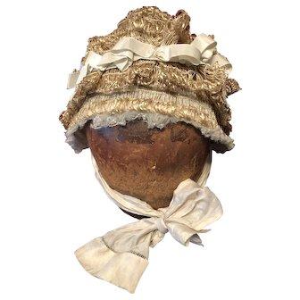 Antique French Doll Bonnet
