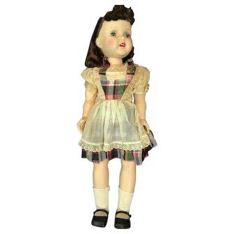 Mint Hard Plastic Carol Doll In Box 23 Inch Walker