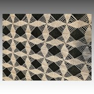 Ecru Crocheted Lace Coverlet circa Early Twentieth Century