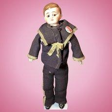 Antique German Bisque American Schoolboy Doll