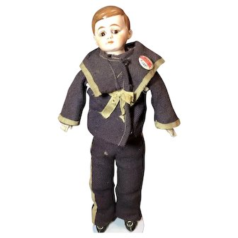 Antique German Bisque American Schoolboy Doll