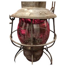 Antique Railroad Lantern Chicago, Milwaukee and St. Paul MN.