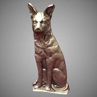 German Shepherd Dog Door Stop Metal Cast Iron
