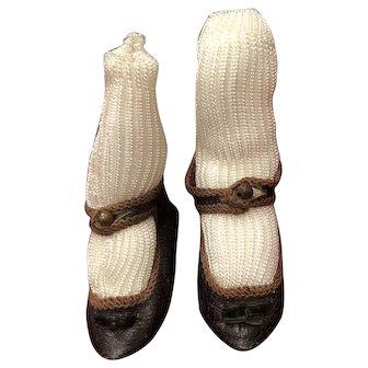 Original French Jumeau Shoes Size 6 Paris Bee Depose